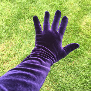 PURPLE Velvet Gloves full fingered